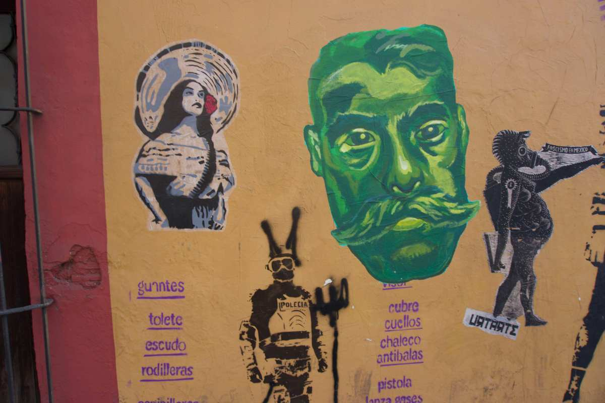 Writings on the Wall in the Streets of Oaxaca